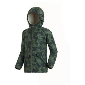 Regatta Sawyer Jacket Kids Cypress Green Camo Print